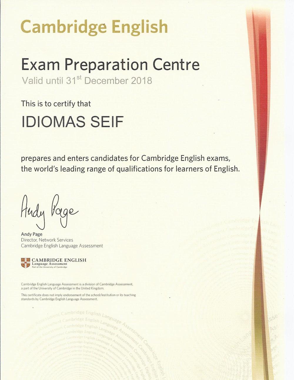seif centro oficial examenes cambridge
