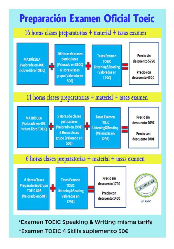 preparación exámenes toeic en Idiomas Seif